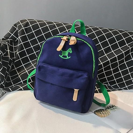 bac65a0d1c97 Amazon.com  Children Baby Boys Zipper Cute Cartoon Horse Animal Schoolbag  Toddler Travel Backpack (8.2(L) X3.9(W) X10.6(H) inches