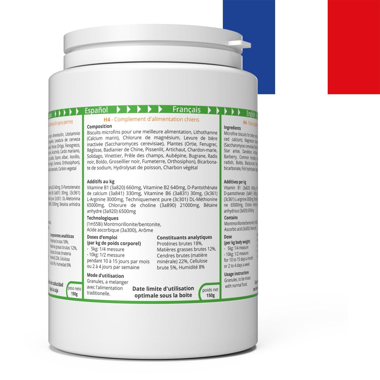 ww7 H4 Fórmula Natural para Dieta y órganos internos de Perros -150g: Amazon.es: Productos para mascotas