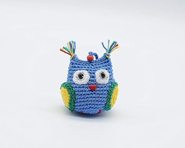 Regalo azul del búho, juguete hecho a mano, símbolo de la ...