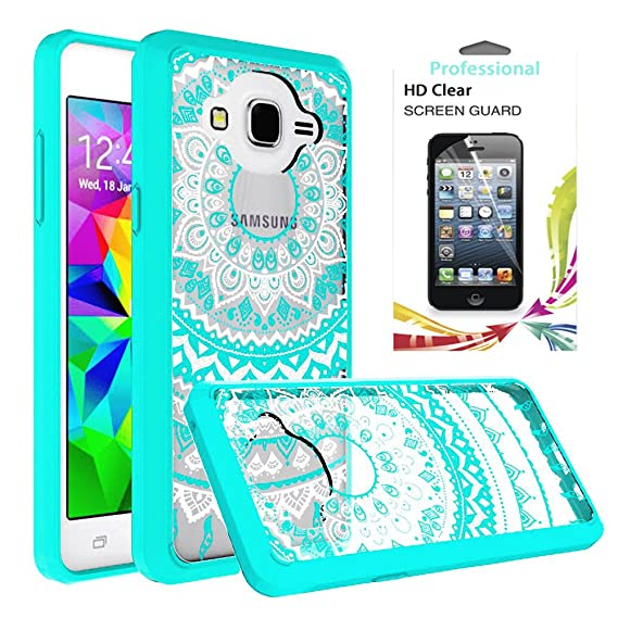 classic fit c268b 50738 Galaxy On5 Case,Samsung Galaxy G550/G5500 Phone Case Clear with HD Screen  Protector,AnoKe Scratch Resistant Mandala Cute Girls Women Thin Slim Fit ...