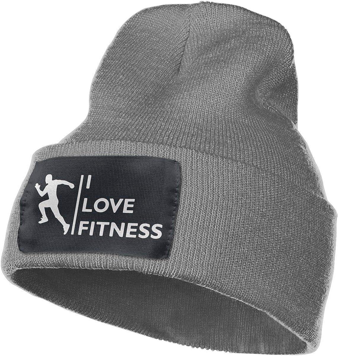 I Love Fitness Men /& Women Skull Caps Winter Warm Stretchy Knit Beanie Hats