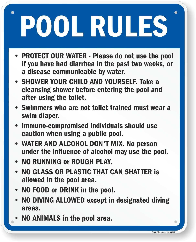 SmartSign Oregon Pool Rules Sign | 24'' x 30'' Aluminum by SmartSign