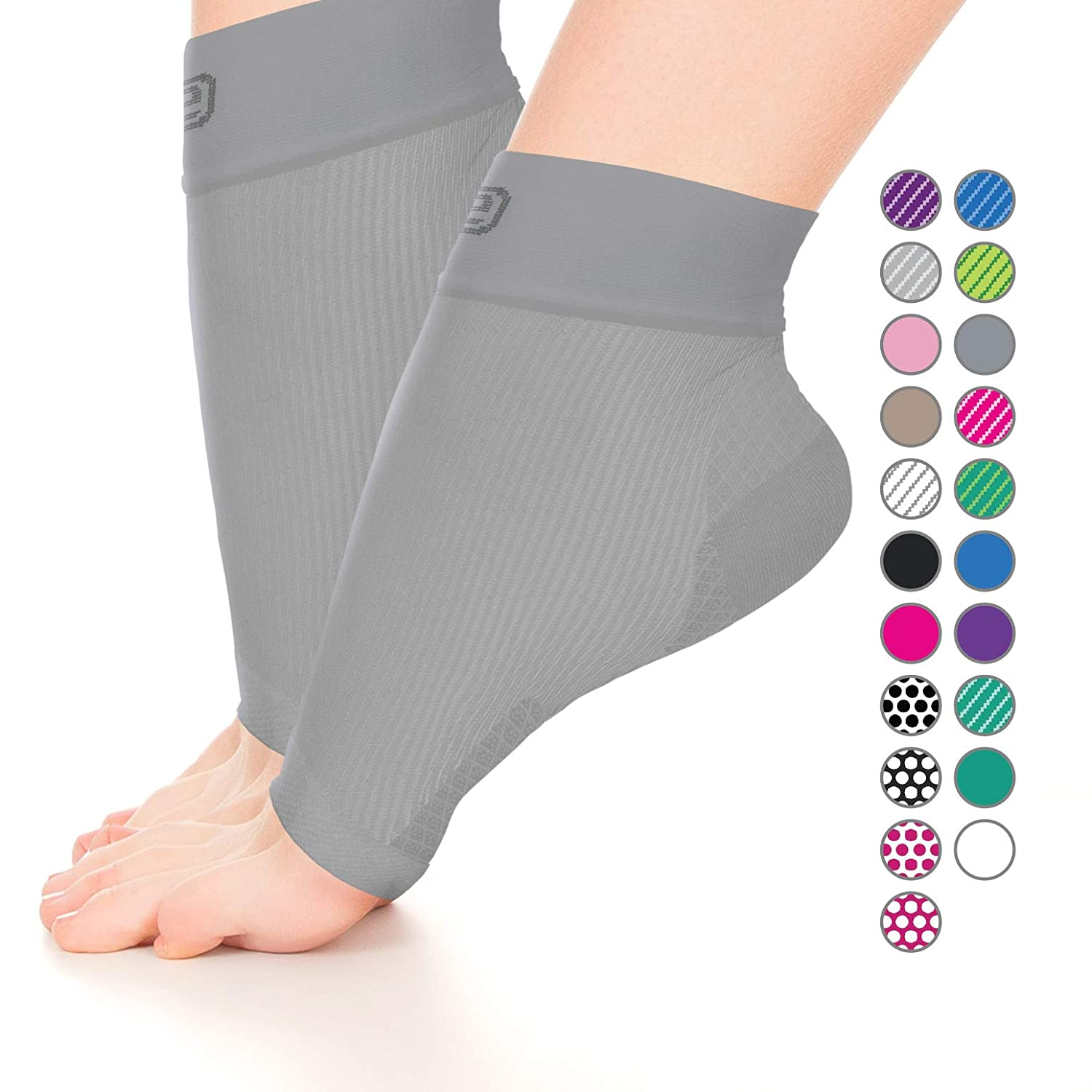 Go2 Plantar Fasciitis Socks | Best Ankle Compression Brace 22-25 mmHg | Arch Support Joint Heel Pain Relief | Foot Sleeves for Women and Men Reduce Swelling | Relieve Achilles Tendonitis & Sprain