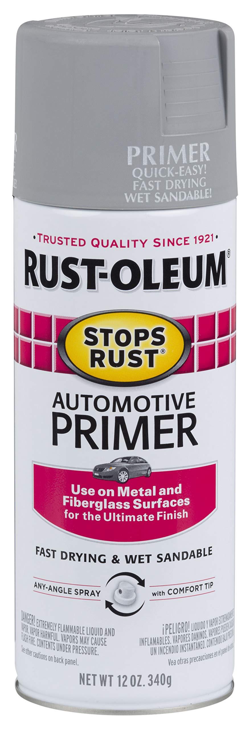 Rust-Oleum 2081830 Stops Rust Automotive Primer, 12 Oz, Light Gray