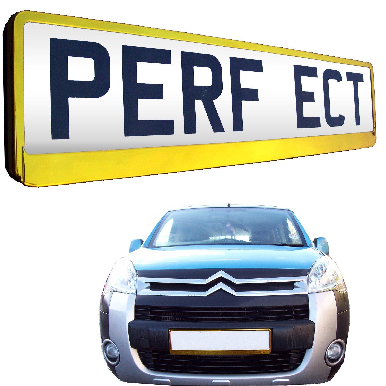 TAPORT® Car Registration License Number Plate Surrounds Holder Frame ALL STYLES (SUPER CHROME)