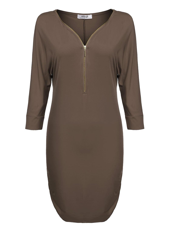 CRAVOG Damen Sommer Casual Bodycon Kleid Partykleid Abendkleid Cocktailkleid Clubwear