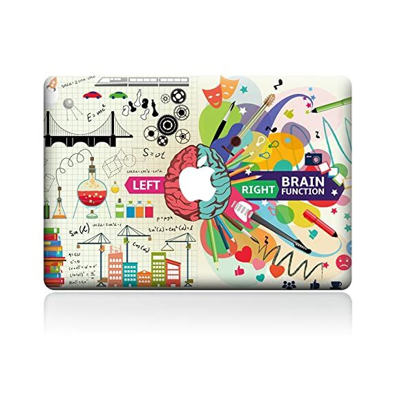 best service 2a893 06aac H4S Removable Decorative PVC MacBook Decals Skin Stickers Mac Full Cover  Decals for Apple Laptop MacBook Pro 13 Inches Model A1278, Brain 1