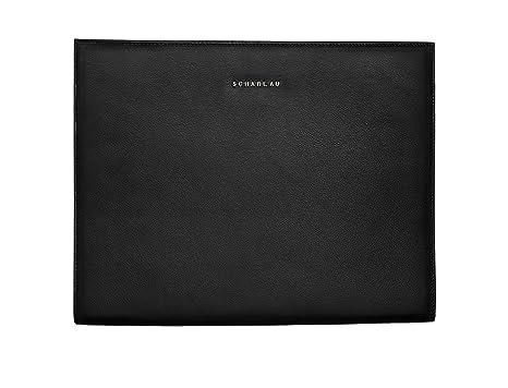"""Porta Documentos Piel Negro Compartimento Reforzado para Ordenador Portátil 13,3"""" y Porta Tablet"""