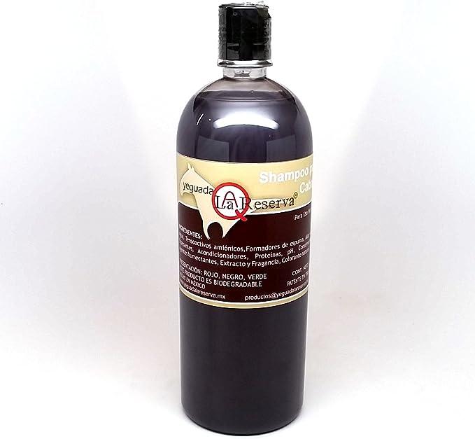 Yeguada La Reserva Shampoo de Caballo Negro (Bote de 1 Litro) - Todo Natural - Para un Cabello Fuerte, Saludable y Hermoso (For Dark to Black Colored Hair): Amazon.com.mx: Salud y Cuidado Personal