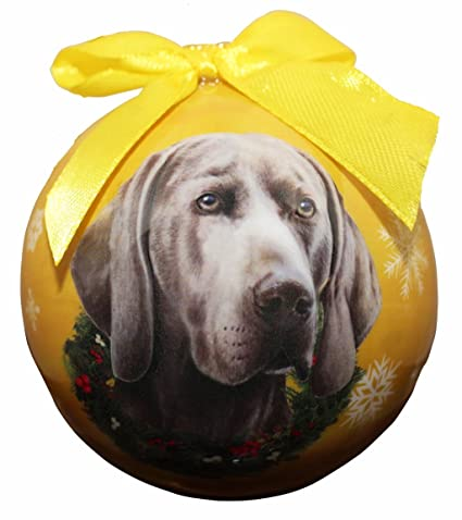 """""""Weimaraner Christmas Ornament"""" Shatter Proof Ball Easy To  Personalize A Perfect Gift For - Amazon.com:"""
