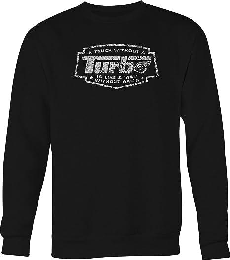 DISTRESS Truck Turbo Man Balls Spool Diesel Crewneck Shirt - Medium