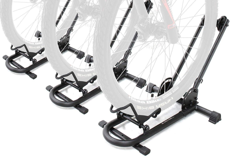 Bikehand Bicycle Floor Type Parking Rack Stand – for Mountain and Road Bike Indoor Outdoor Nook Garage Storage
