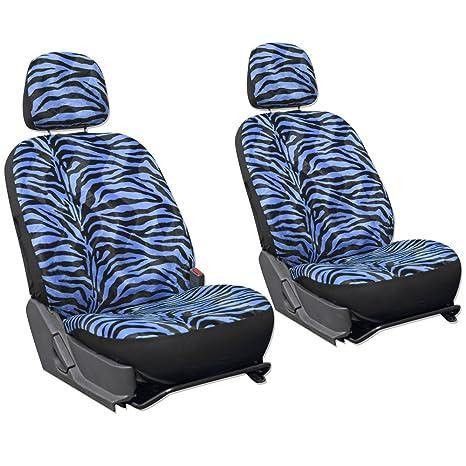 OxGord 6pc Set Zebra Animal Print Auto Seat Covers