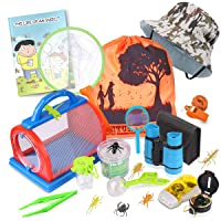 Outdoor Explorer Kit & Bug Catcher Kit with Binoculars, Flashlight, Compass, Magnifying...