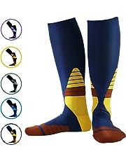 Calcetines de compresión Medias de compresión para Hombres y Mujeres, Evitan el Sudor y la Fatiga, Deporte, para Trotar, Volar, Viajar, varicosas, Aumentar la circulación sanguínea