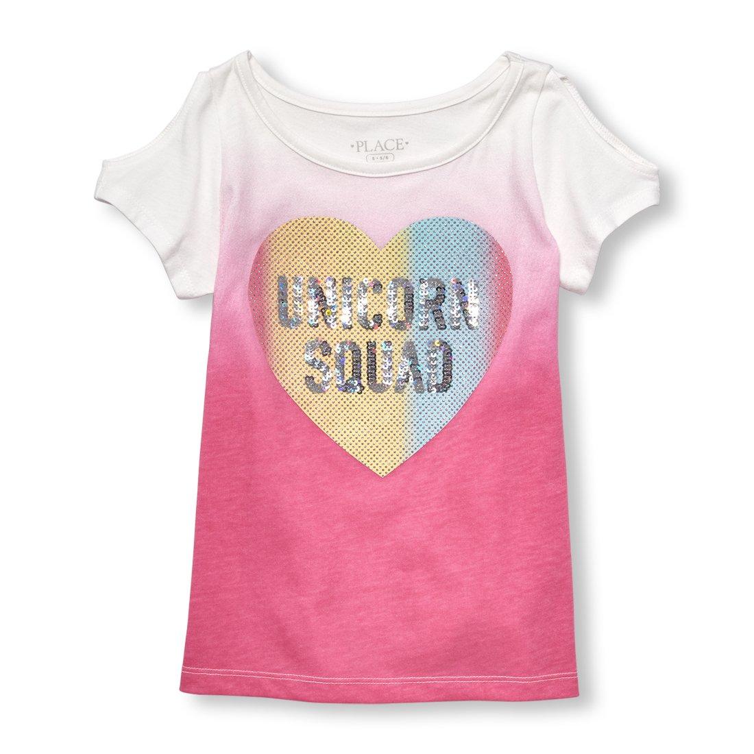 The Children's Place Big Girls' Short Sleeve Top, Jazzberry 02369, L (10/12)