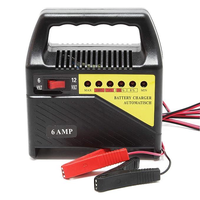 Cargador baterías vehículos 6V 12V 6A Batería Dispositivo ...