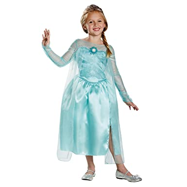 Amazon.com: Elsa Disney Frozen Snow Queen albornoz las niñas ...