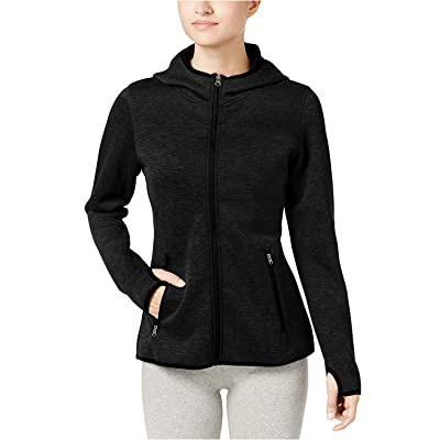 32 DEGREES Women's Tech Fleece Hooded Jacket Heather Black XS at Amazon Women's Clothing store