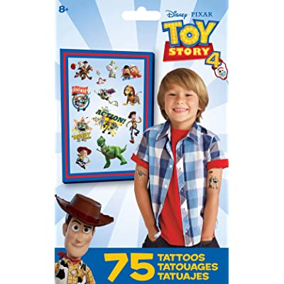 Trends International Toy Story 4- Tattoo Bag 75 Ct, Multi: Toys & Games