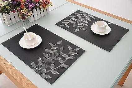 Tapetes para mesa comedor tapetes de mesa juego de manteles de mesa de comedor place mats - Individuales para mesa ...
