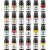 RAINBOW ABBY Top 24 Essential Oil Set(Rose,Jasmine,Lavender,Sandalwood,Vanilla,Chamomile,Orange,Lemon,Bergamot,Lemongrass,Eucalyptus,Cinnamon,Frankincense,Myrrh and others)