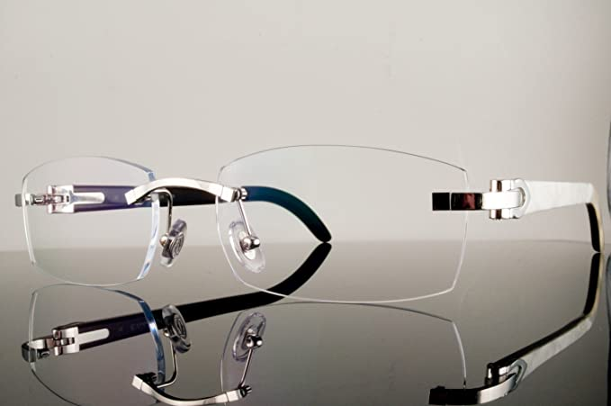 b140d7f7aa44d Image Unavailable. Image not available for. Colour  Cartier T8300656 Remo White  Buffalo Horn Eyeglasses