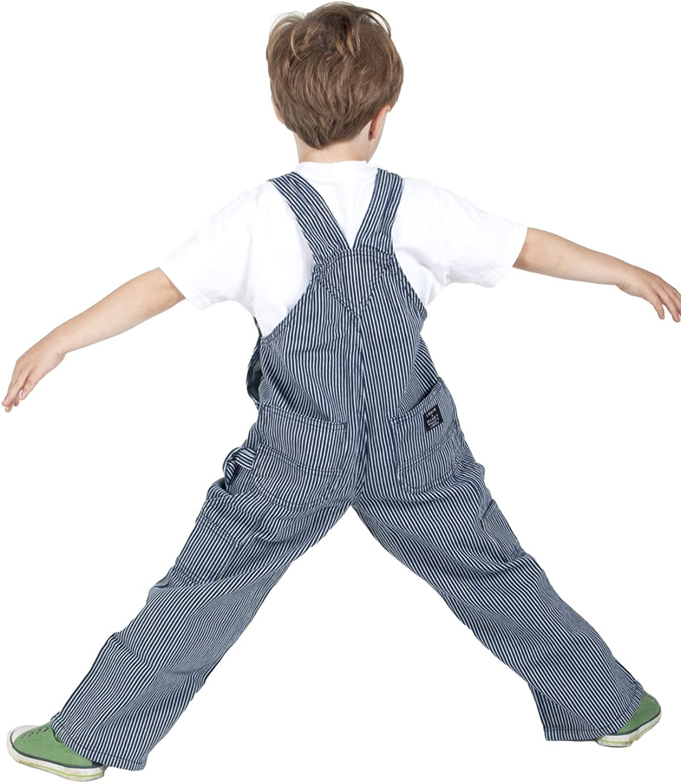 Key Industries Childrens Dungarees Hickory Stripe Age 12m-7yrs Kids Bib Overal KID009