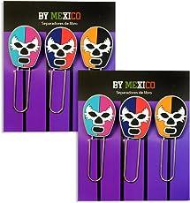 By Mexico Separadores de Libro modelo Máscaras de Luchador juego de 2
