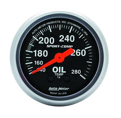 Auto Meter 6348 Sport Comp Digital 2-1//16 0-340 Degree F Digital Oil Temperature Gauge