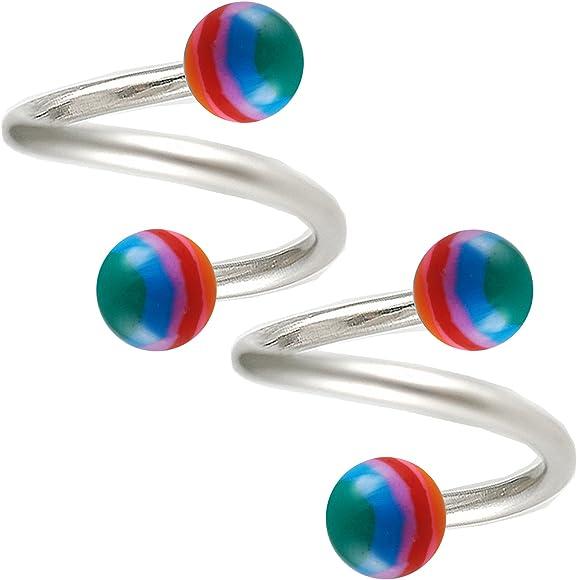 Spiralenpiercing Ball labios piercing 1,2mm piercing oreja