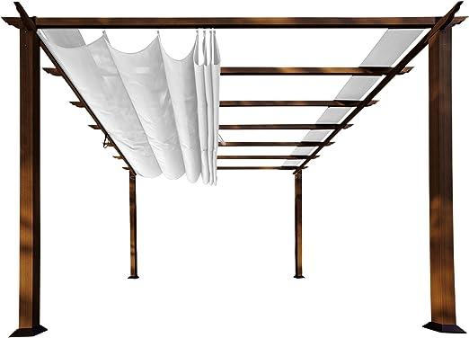 Paragon-Outdoor PR11WD2W - Estructura para patio (parte superior suave, con marco de Ipe Chileno Valencia Pergola, 27, 94 x 27, 94 cm), color blanco: Amazon.es: Jardín