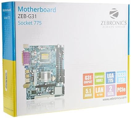 Amazon buy zebronics motherboard zeb g31 socket 775 online at zebronics motherboard zeb g31 socket 775 fandeluxe Images