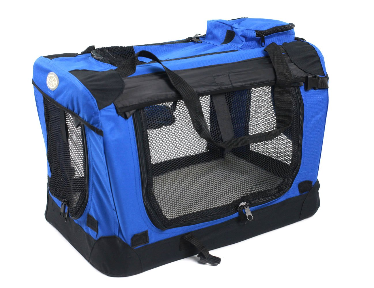 Easipet Fabric Pet Carrier, in 4 Size, Blue (Medium)