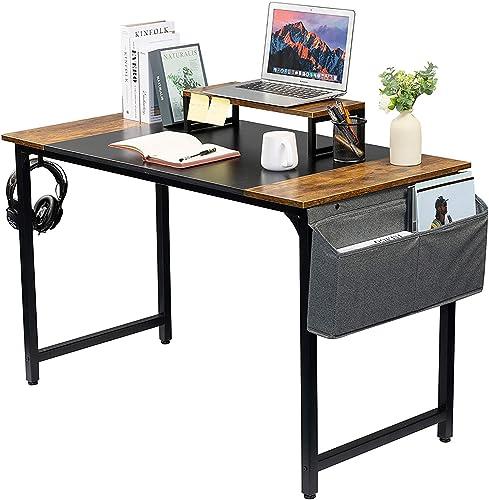 GAJOO Computer Desk Work Home Office Desk Writing Study Desk 47inch Modern Simple Student School Study Desk