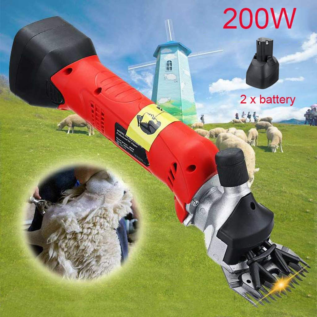 12V Cordless Electric Shearing Clipper with 13 Teeth Blade, 200W Wool Electric Sheep Shearing for Farm Livestock Pet Supplies Grooming