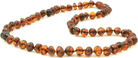 Massive Genuine Baltic Amber Stone Necklace Polished Green Beads