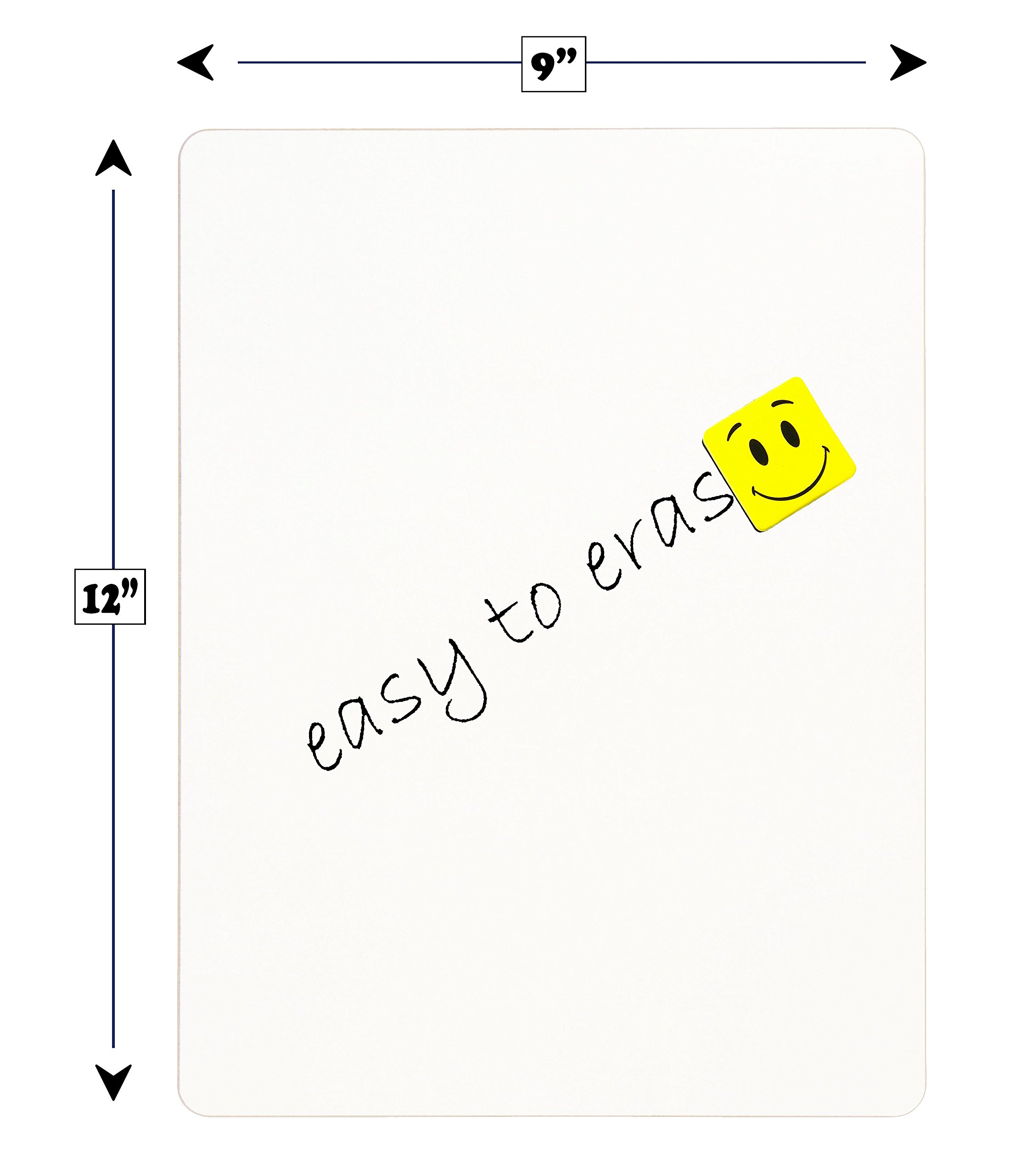 "DOUBLE SIDED Dry Erase Lapboards Pack Bulk Includes 30 Pcs 9 x 12"" Inch Mini Small Whiteboards With Erasers and Markers For School Students Write Large Classroom Drawing Interactive Office Supplies by Dapper Display (Image #6)"