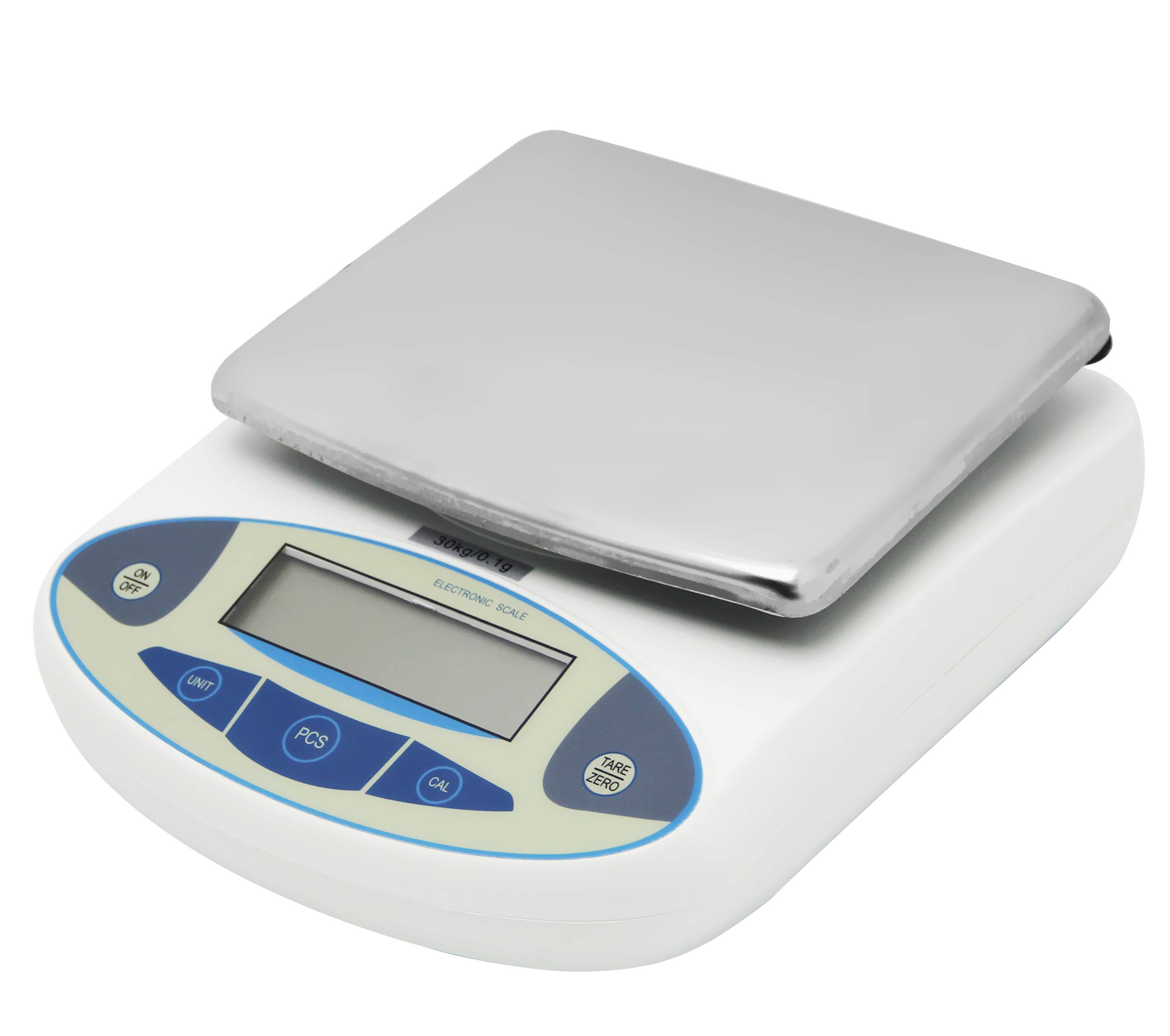 Hanchen Digital Balance Lab Electronic Scale 10kg/0.1g High Precision Analytical Scales for Jewelry Store Kitchen Pan Size: 180x140mm