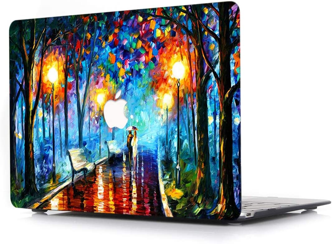 L2W Hard Case for MacBook Pro 13.3 Inch with Retina Display Model A1502/A1425 Laptop Computers Accessories Plastic Smooth Print Protective Oil Painting Pattern Cover,Street