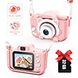 Kids Camera for Girls and Boys, Digital Dual Camera 2.0 Inches Screen 20.0MP Video Camcorder Anti-Drop Children Selfie…