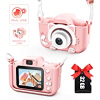 Kids Camera for Girls and Boys, Digital Dual Camera 2.0 Inches Screen 20.0MP Video…