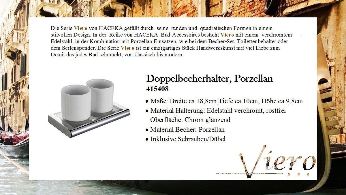 Porzellan Haceka 415408 Viero Doppelbecherhalter