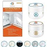 Tub, Tile and Shower Repair Kit (Color Match), 3.7oz Fiberglass Repair Kit, Porcelain Repair Kit White/Almond/Black/Bone…