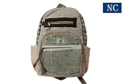 100% Pure cáñamo Multi bolsillo mochila con funda para portátil – diseño de moda viaje
