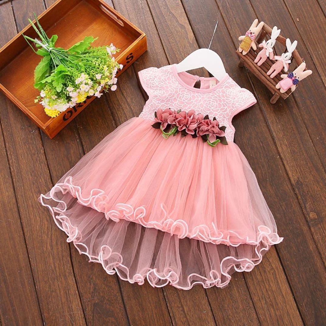 59b236d9f6a1 Vestidos bebé niña ❤ Amlaiworld Vestido floral de verano para niñas  pequeñas Vestido de fiesta. Ampliar imagen
