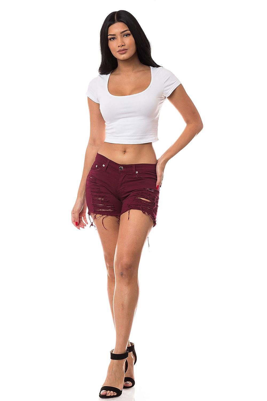 Amazon.com: Aphrodite Pantalones vaqueros para mujer con ...