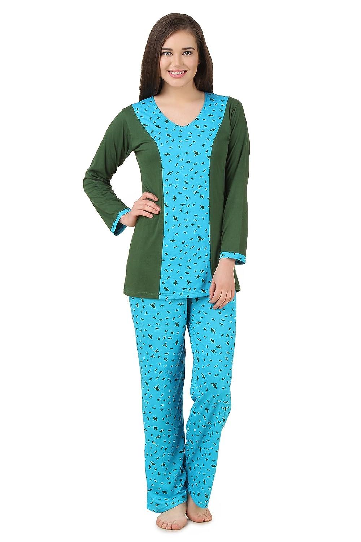fce7626ca4 Fasense Women Cotton Nightwear Sleepwear Top   Pyjama Set