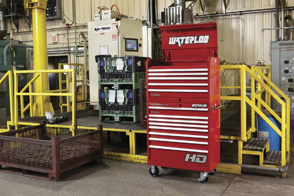 Waterloo PCA-36821RD Professional HD Series 8-Drawer Rolling Tool Cabinet, Red Finish, 36'' W by Waterloo (Image #1)