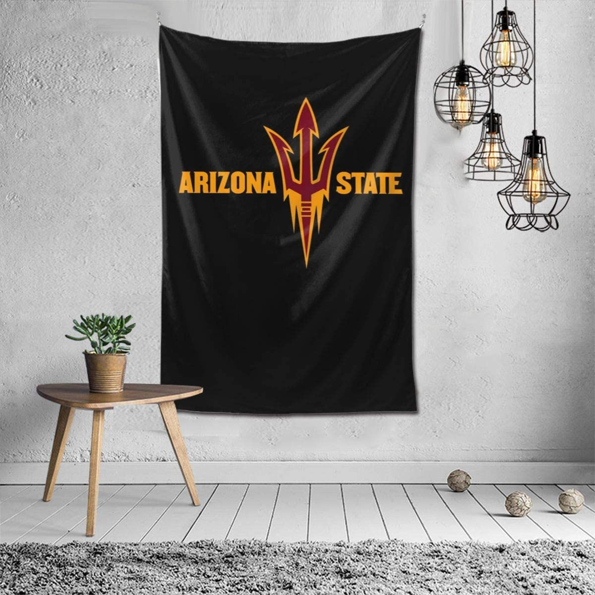 NCAA Arizona State Sun Devils Tapestry Wall Hanging, Tapestry Art Decoration Closet Bed Living Room Bedroom Dormitory Bedroom Interior Home Decoration Tapestry 60 40inch